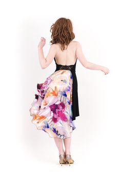 lampblack and iris dress - poema clothing