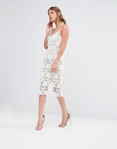 Image 4 ofNew Look Premium Crochet Lace Bodycon Dress