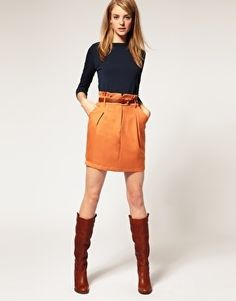 Vila Mini Skirt With Gathered Frilled Waist - StyleSays