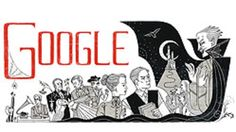 Doodle de Google de homenaje al escritor irlandés Bram Stoker, autor de 'Drácula'.