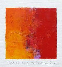 "Nov. 10, 2016 9 cm x 9 cm (app. 4"" x 4"") oil on canvas  © 2016 Hiroshi Matsumoto"