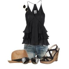 Outfits Set For Ladies... The hat is not needed. Lol