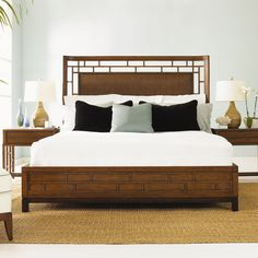 Tommy Bahama Home Ocean Club Paradise Point Panel Bedroom Collection