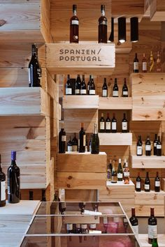 Contemporary Wood Furniture Wall Showroom classy wine