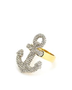 so cute. love my bling :) Juicy Couture ❤ Large Pave Anchor Ring