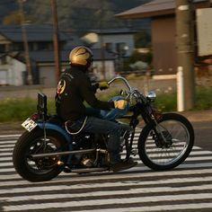 "from Instagram of ""road_zombie1973"" ひとりでも 行って良かった オワイナイト (字余り) photo by @neo.soul.train  ありがとうございます✋  #owaiknight #オワイナイト #harleydavidson  #shovelhead  #chopper #motorcycle"