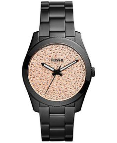 Fossil Women's Perfect Boyfriend Black Ion-Plated Stainless Steel Bracelet Watch 39mm ES3646 - Women's Watches - Jewelry & Watches - Macy's