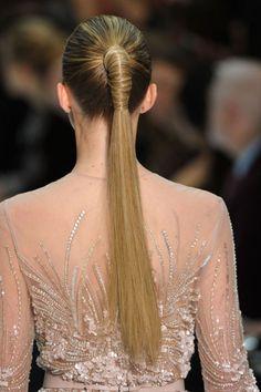 sleek ponytail for Elie Saab Elie Saab, Good Hair Day, Great Hair, Ponytail Hairstyles, Cool Hairstyles, Hair Ponytail, Glamour, Increase Hair Growth, High Ponytails