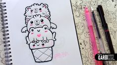 ♥ Kawaii Animals Ice Cream ♥ Sheep, Bear and Frog ♥ Doodles ♥ Easy Drawi...