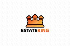 Estate King - $299 (negotiable) http://www.stronglogos.com/product/estate-king #logo #design #sale #king #crown #real #estate #building #construction #mortgage