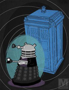 Meghan Murphy's series of daleks dressed like all eleven Doctors: Nine