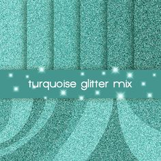 turquoise glitter digital paper, textured background