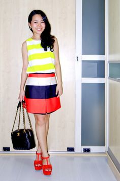 CHANEL MISIA camera bag | TOPSHOP sleeveless top | ASOS mini skirt | ZARA platform heels