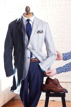 Spring Summer 2017 Office Menswear Outfits - LALONDE's Office Looks, Sports Jacket, Gentleman Style, Luigi, Drake, Menswear, Spring Summer, Shirt Dress, Blazer
