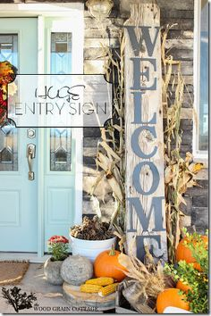 Front Porch Welcome Sign by The Wood Grain Cottage