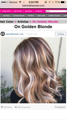 Two tone blonde, platinum and gold highs. So pretty! #blonde #behindthechair