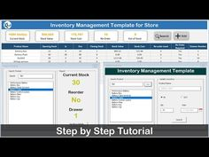 Inventory Management Template for Store - YouTube