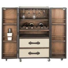 Safavieh Lexington Beige Bar Cabinet | Overstock.com Shopping - Great Deals on Safavieh Coffee, Sofa & End Tables