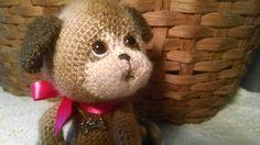 Artist thread crochet puppy.  See on Etsy Sweetheartthreads