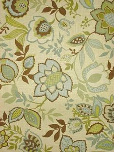 Jayda Bramble by Better Homes and Gardens - used on master bath shower curtain, vanity stool seat & bed pillows. Bought at Joann Fabrics.