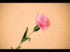 折り紙 花 クロッカスと葉 立体 簡単な折り方(niceno1)Origami Crocus flower and leaves 3D - YouTube