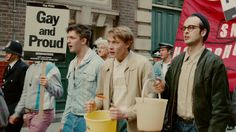 ‪#‎Review‬ | Pride Builds Up Steam Much Like The Political Movements It Portrays  Based on a true story, the film takes place at the height of the British miner's strike of 1984, which also happened to coincide with one of the most turbulent and progressive time periods in the history of LGBT rights.  http://gay-themed-films.com/pride-film-review/