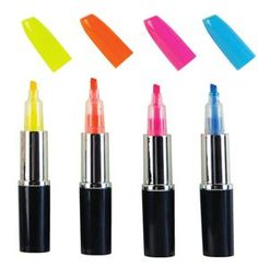 Get the Lipstick Highlighter and other great school supplies from GEDDES! Middle School Supplies, College School Supplies, Washi, Highlighter Pen, Highlighters, Graffiti Pens, Spy Gadgets, School Stationery, Calligraphy Pens