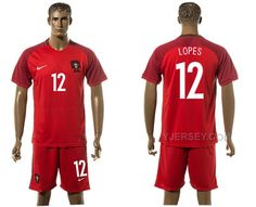 http://www.yjersey.com/portugal-12-lopes-home-uefa-euro-2016-soccer-jersey.html PORTUGAL 12 LOPES HOME UEFA EURO 2016 SOCCER JERSEY Only $35.00 , Free Shipping!