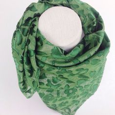 St Patrick Green Silk Square Shawl Burnout silk by BlingScarves