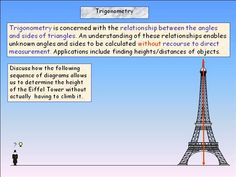 Right Angled Triangles in Real Life 1 Right-angled Triangles