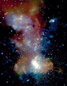The center of the Milky Way is a crowded neighborhood and not always a calm one, according to the latest image from NASA's Chandra X-ray Observatory. - The new X-ray image shows three massive star clusters, the Arches (upper right), Quintuplet (upper center), and the GC star cluster (bottom center), which is near the enormous black hole known as Sagittarius A*.  - Credit: NASA/CXC/UMass Amherst/Q.D.Wang et al.