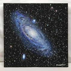 "Andromeda Galaxy Acrylic on 12"" x 12"" canvas"