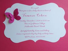 Baby Shower Invitations   Die-Cut Butterfly invites