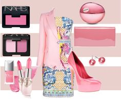 """""""Pretty in pink"""" by liesel131180 on Polyvore"""