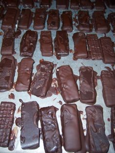 Vegan kit kat bars.  These don't look pretty, but for a kids who loves kit kats I think they will taste good.