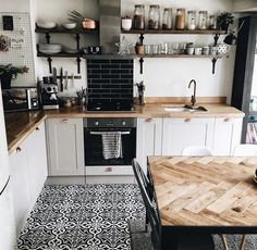 Love the wood counter tops