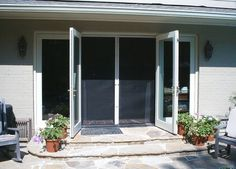 double French doors - traditional - screen doors - other metro - by Retracta Screen of the Carolinas, Inc. French Doors With Screens, Double French Doors, French Doors Patio, Fence Doors, Patio Doors, Entry Doors, Screen Doors, Phantom Screens, Door Design