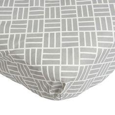 Crib Sheet-Gray Mod Basket Weave