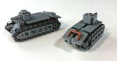 Micro prototype French Char B1 Tanks. | by Yitzy Kasowitz