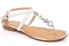 Unze Maja' Ladies Women Flat Sandals Thong Style Stones Detailing - 15B1586-6 Unze London http://www.amazon.com/dp/B00LH012NG/ref=cm_sw_r_pi_dp_KzTcvb0R1115V