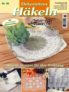 "Photo from album ""Dekoratives Hakeln on Yandex. Knitting Books, Crochet Books, Thread Crochet, Crochet Doilies, Crochet Chart, Filet Crochet, Knit Crochet, Crochet Patterns, Crochet Ideas"
