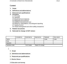 Writing Standard Operating Procedures Writing Sop  Standard