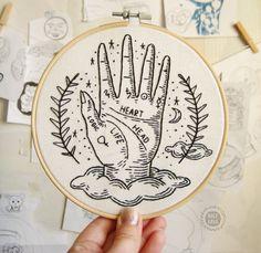 Decoración de brujas / Altar de brujas / Arte de bordado de | Etsy