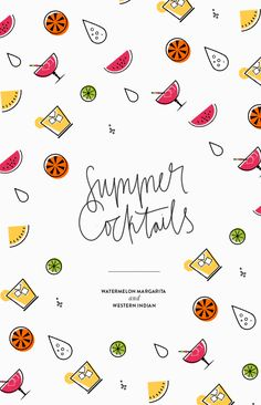 summer cocktails by cocorrina