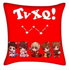 Kpop TVXQ JYJ  animation character  image pillow
