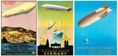 Vintage Airship Travel Posters  - Dark Roasted Blend