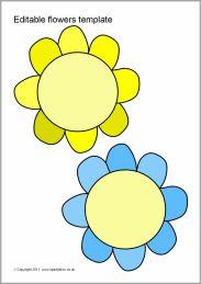 Editable flowers template (SB6806) - SparkleBox