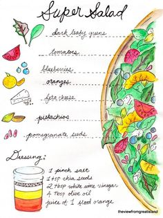 Super Salad by the viewfromgreatisland #Infographic #Salad #Healthy