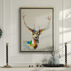 Modern-Textured-Abstract-Art-Painting-Direct-from-Artist-Deer-24-32-in