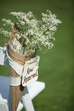 Decorative Wedding Aisle Decor Burlap by JillsWeddingSupplies, $5.00; cute but not a must